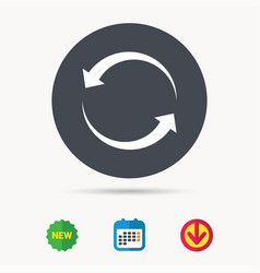 update icon refresh or repeat sign vector image