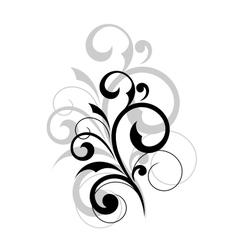 Elegant scrolling foliate design element vector image vector image