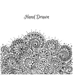 Floral hand drawn doodle vector image vector image