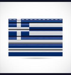 Greek siding produce company icon vector image vector image