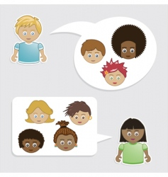 kids friends vector image