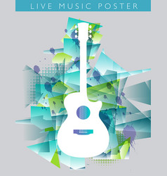 music background with an acoustic guitar vector image vector image