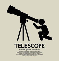 Telescope Graphic Symbol vector image