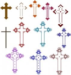 12 crosses vector