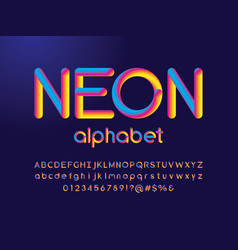 3d blend font vector image