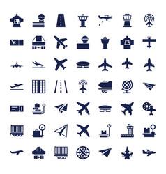 49 plane icons vector