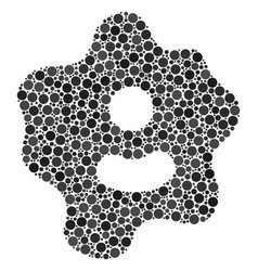 Amoeba composition of dots vector
