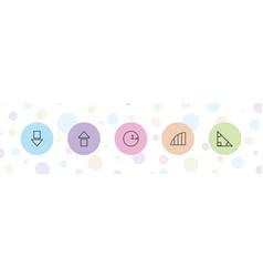 Angle icons vector