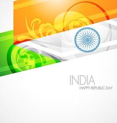 Artistic indian flag vector