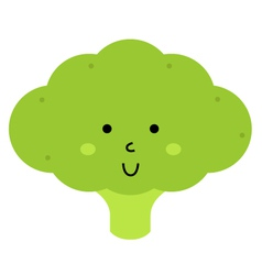 Beautiful cute carton Broccoli character vector image