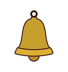 bell figure in gold color vector image