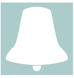 bell the white color icon vector image