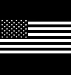 Black and white flag of united states of america vector