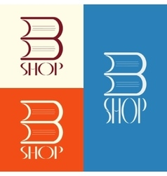 Book shop logo design vector image