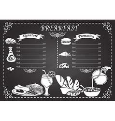 Breakfast set design elements vector image