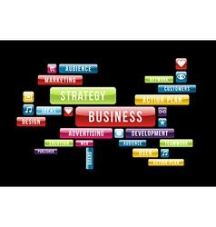 Business cloud vector image