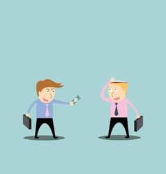 Businessman trading success vector image