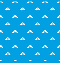 Cave pattern seamless blue vector