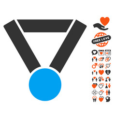 champion award icon with love bonus vector image