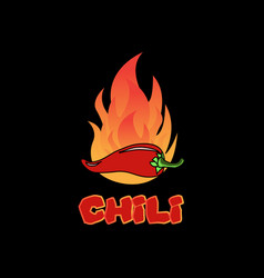 chilli design vector image