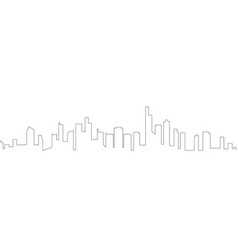 continous line skyline of minneapolis vector image