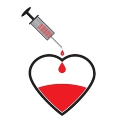 Creative World Blood Donor vector image