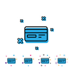 credit card line icon bank payment method vector image