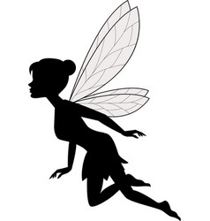Cute fairy flying vector