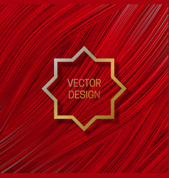 Eight-pointed frame on saturated red background vector