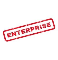 Enterprise Text Rubber Stamp vector