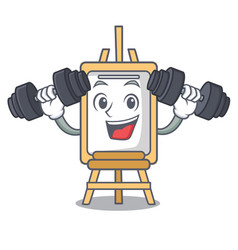 fitness easel character cartoon style vector image