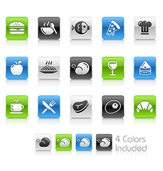 Food Icons 1 Clean Series vector image