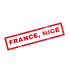 France Nice Rubber Stamp vector