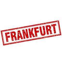 Frankfurt red square grunge stamp on white vector