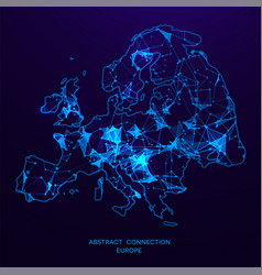 futuristic map of europe consisting vector image