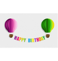 Happy birthday text isolated transparent vector