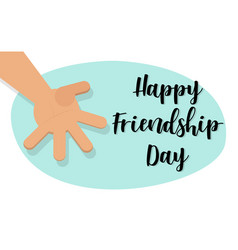 happy friendship day concept brotherly handshake vector image