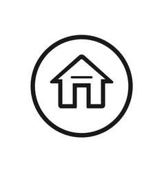 Home icon on a white background vector