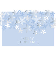 Ice cold blue flowers for winter design projects vector