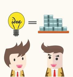 idea change for money concept vector image