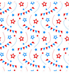 independence day america festive pattern vector image