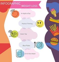 Infographic lose weight vector image