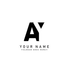 Initial letter ay logo - simple business logo vector