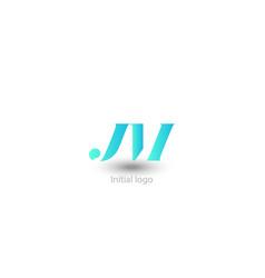 initial letter j m design vector image