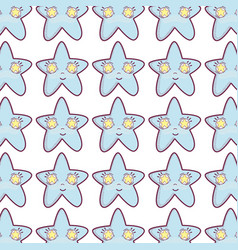 Kawaii happy star background vector