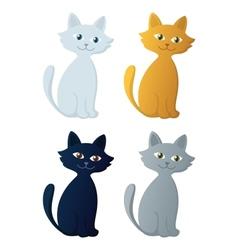 Kitten set vector