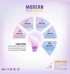 light bulb infographic template for business vector image