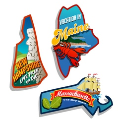 Maine new hampshire massachusetts vector