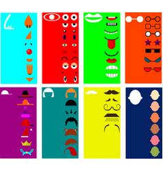 Make a face image vector