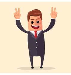 manager or business character happy and vector image
